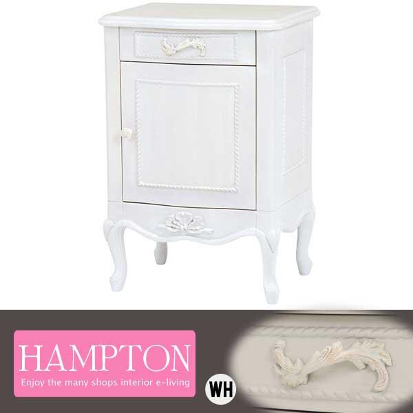 【半額以下】セール アンティーク家具 ホワイト サイドテーブル ベッドテーブル 姫系 可愛い