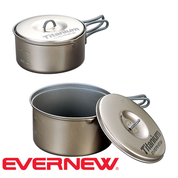 エバニュー(Evernew) チタンクッカーセットM セラミック (クッカー 調理器具 ナベ) CA412