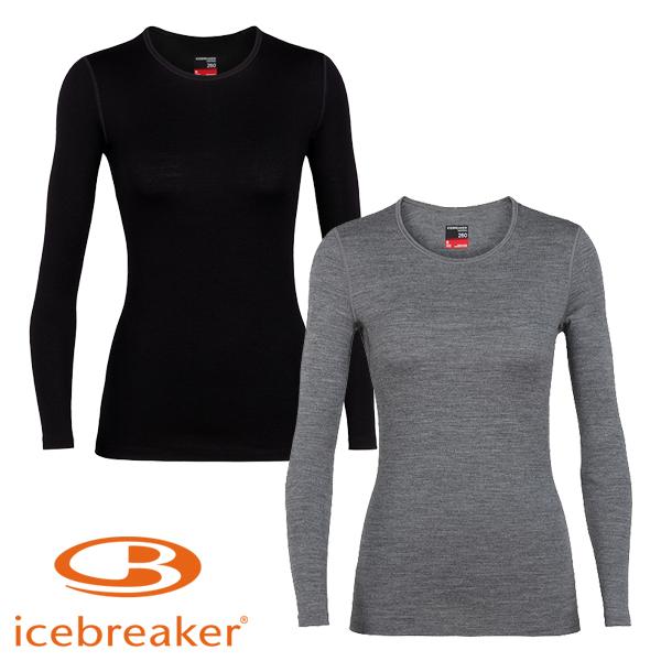 アイスブレーカー(icebreaker) 260 テック ロングスリーブ クルー (レディース/長袖 Tシャツ) IXW26180