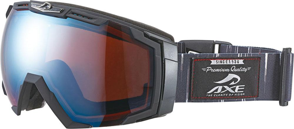 AXE(アックス)スキーゴーグル・サングラスメンズ スノーゴーグル UVカットAX770WCMBKB