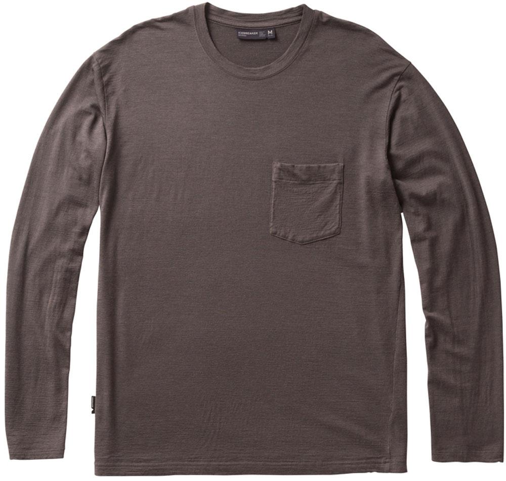 ICEBREAKER(アイスブレーカー)アウトドアTシャツネイチャー ダイド ロングスリーブ ポケット クルー (メンズ) IT11870IT11870バンブC