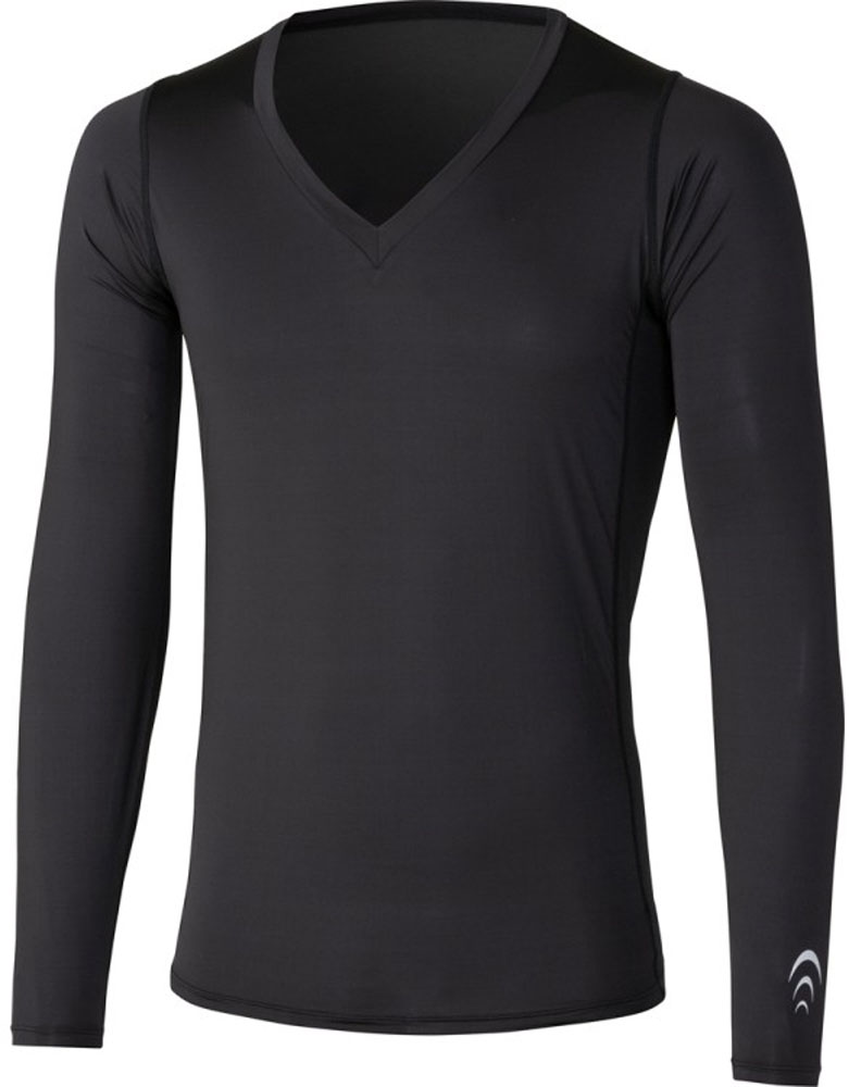 C3fit(シースリーフィット)ボディケアクーリングVネックロングスリーブ(メンズ) Cooling V-Neck Long Sleeve3F09111