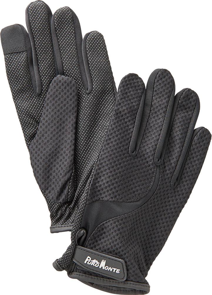 高級な PUROMONTE プロモンテ アウトドア 手袋 ブラック ユニセックス 選択 4日20時から5日までP最大10倍 トレッキンググローブ GB061UGB061U UVケア