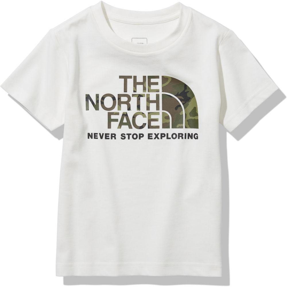THE NORTH FACE ノースフェイス アウトドア 期間限定今なら送料無料 Tシャツ ホワイト ノースフェイスアウトドアショートスリーブカモロゴティー キッズ 限定Special Price K S 子供 ジュニア キャンプ 半袖 Camo 子どもNTJ32145W Tee 遊び Logo UVケア お出かけ