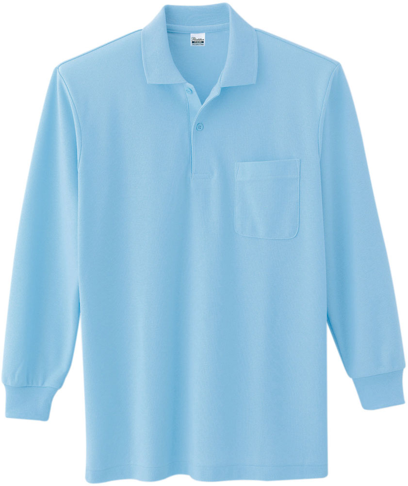 ポロシャツ サックス 25日限定P最大10倍 T SS00169A033 ホワイト 商品 ポケット付 登場大人気アイテム C長袖ポロシャツ