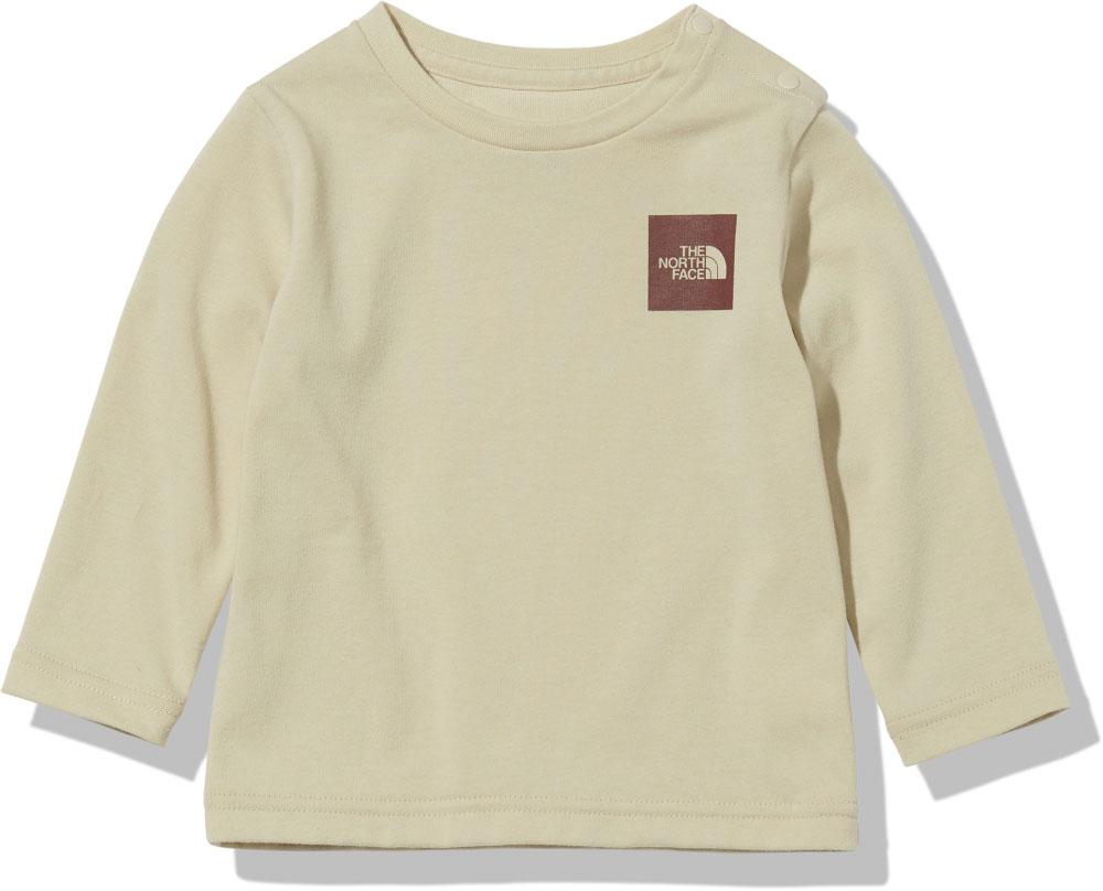 THE NORTH FACE ノースフェイス アウトドア Tシャツ ブリーチト_P THE NORTH FACE ノースフェイスアウトドアロングスリーブスモールスクエアロゴティー ベビー B L/S Small Square Logo Tee 長袖 Tシャツ 赤ちゃん 赤ん坊 乳幼児 キッズ 子ども 子供 親子コーデNTB82119BS