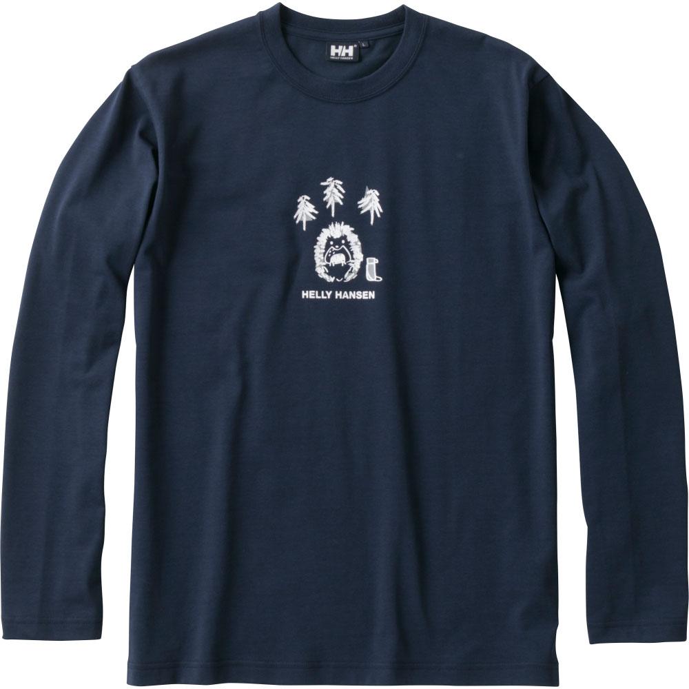 HELLY HANSEN(ヘリーハンセン)マリン水中ロングスリーブ ヘッジホッグ ティー メンズ・レディース L/S Hedgehog Tee Tシャツ ティーシャツ 長袖 長そで 吸汗速乾 防臭HE31870HB