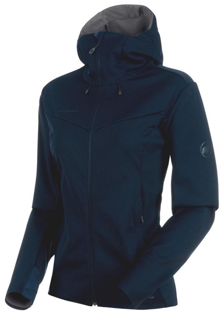 MAMMUT(マムート)アウトドアウインドウェアUltimate V SO Hooded Jacket Women 1011-00072101100072marine-T.Melange