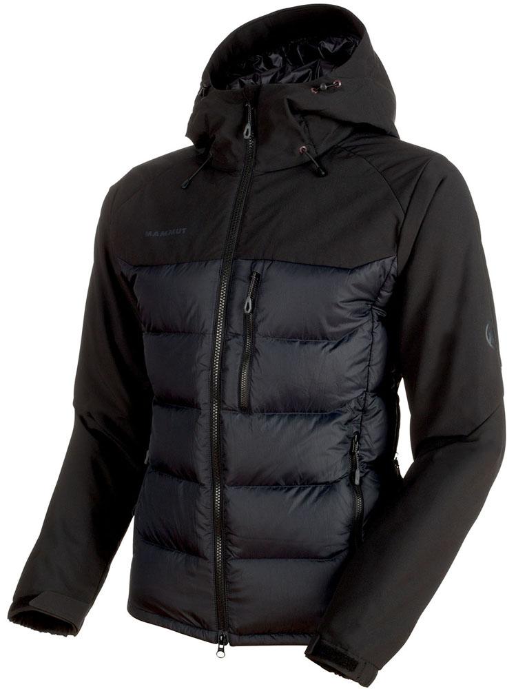 MAMMUT(マムート)アウトドアウインドウェアRime Pro IN Hybrid Hooded Jacket Men 1013-00640101300640black
