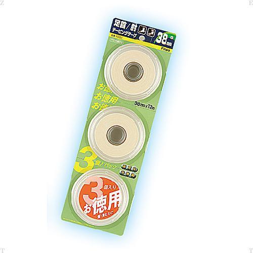 Finoa(フィノア)ボディケアサポーター・テープBPホワイトテープ38mm 3個入り(16個セット)10031