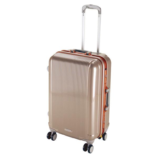 CAPTAIN STAG(キャプテンスタッグ)アウトドアケースグレル トラベルスーツケース(TSAロック付ハードフレームタイプ)〈M〉(シャンパンベージュ)UV0002