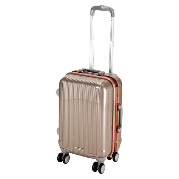 CAPTAIN STAG(キャプテンスタッグ)アウトドアケースグレル トラベルスーツケース(TSAロック付ハードフレームタイプ)〈S〉(シャンパンベージュ)UV0003