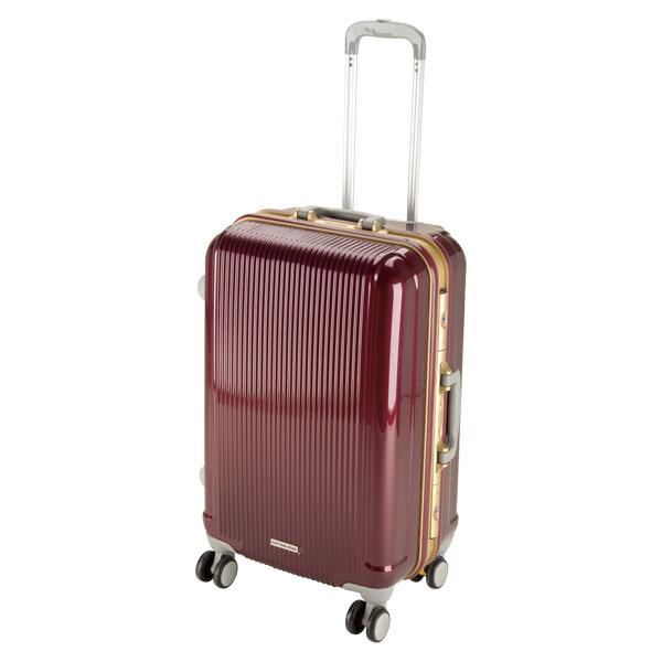 CAPTAIN STAG(キャプテンスタッグ)アウトドアケースグレル トラベルスーツケース(TSAロック付ハードフレームタイプ)〈M〉(ワインレッド)UV0005