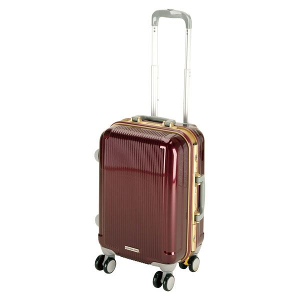 CAPTAIN STAG(キャプテンスタッグ)アウトドアケースグレル トラベルスーツケース(TSAロック付ハードフレームタイプ)〈S〉(ワインレッド)UV0006