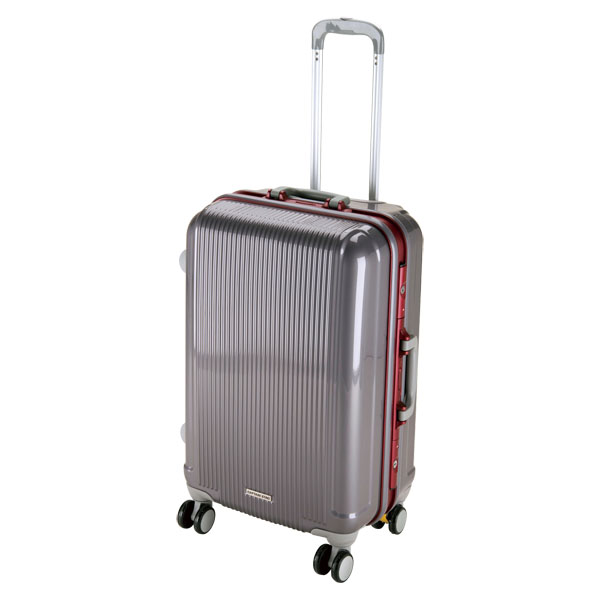 CAPTAIN STAG(キャプテンスタッグ)アウトドアケースグレル トラベルスーツケース(TSAロック付ハードフレームタイプ)〈M〉(スチールグレー)UV0008