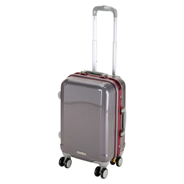 CAPTAIN STAG(キャプテンスタッグ)アウトドアケースグレル トラベルスーツケース(TSAロック付ハードフレームタイプ)〈S〉(スチールグレー)UV0009