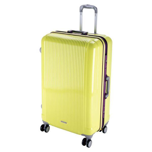 CAPTAIN STAG(キャプテンスタッグ)アウトドアケースグレル トラベルスーツケース(TSAロック付ハードフレームタイプ)〈L〉(アップルグリーン)UV0013