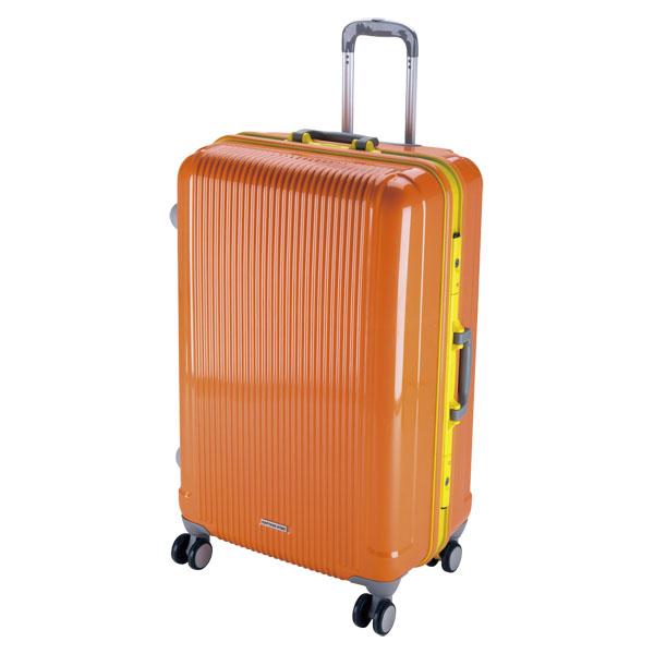 CAPTAIN STAG(キャプテンスタッグ)アウトドアケースグレル トラベルスーツケース(TSAロック付ハードフレームタイプ)〈L〉(サンセットオレンジ)UV0019