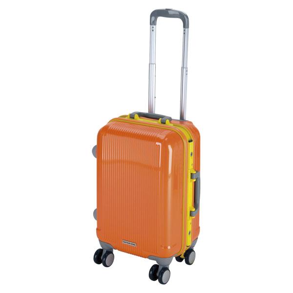 CAPTAIN STAG(キャプテンスタッグ)アウトドアケースグレル トラベルスーツケース(TSAロック付ハードフレームタイプ)〈S〉(サンセットオレンジ)UV0021