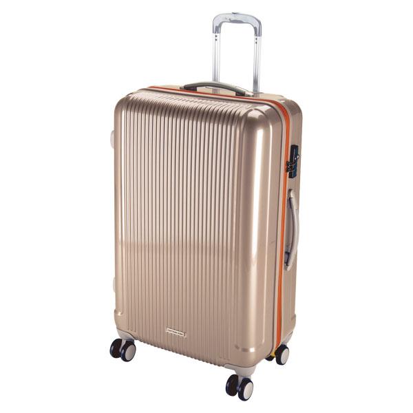 CAPTAIN STAG(キャプテンスタッグ)アウトドアケースグレル トラベルスーツケース(TSAロック付ダブルファスナータイプ)〈L〉(シャンパンベージュ)UV0022