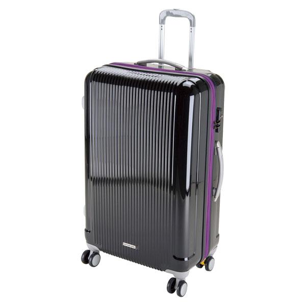 CAPTAIN STAG(キャプテンスタッグ)アウトドアケースグレル トラベルスーツケース(TSAロック付ダブルファスナータイプ)〈L〉(ブラック)UV0031