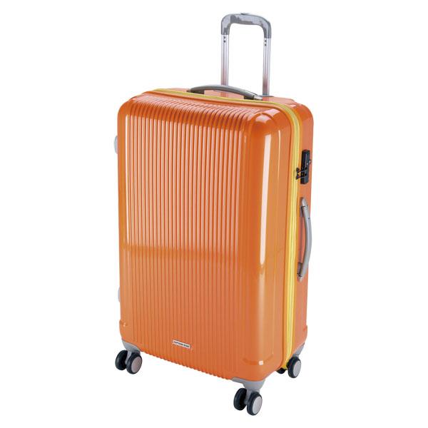 CAPTAIN STAG(キャプテンスタッグ)アウトドアケースグレル トラベルスーツケース(TSAロック付ダブルファスナータイプ)〈L〉(サンセットオレンジ)UV0040