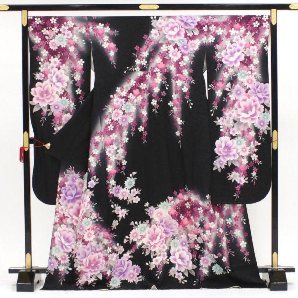 正絹 振袖 販売 宵闇の桜の宴 中古 新品 送料無料 期間限定の激安セール