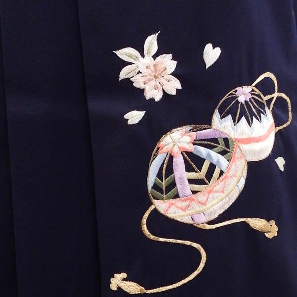 卒業式 着物と袴 セット販売 友禅染めの優しい枝垂れ桜コーデ身長約147から162cm対応