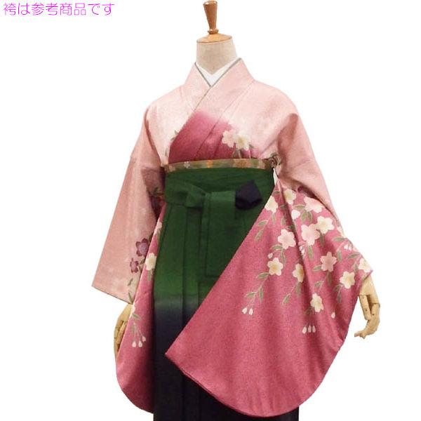 写真の袴は参考商品です 袴も選んで同時購入できます 袴用着物5点セット ピンク 枝垂れ桜を揺らす風 初売り 限定タイムセール