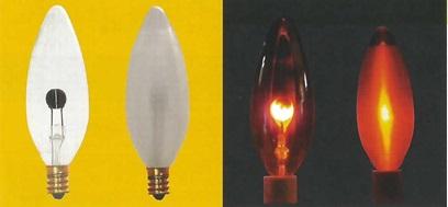入手困難 蔵 セール品10本セット旭光電機ニューフリッカーランプC32E12100V0.6Wクリヤー口金E12