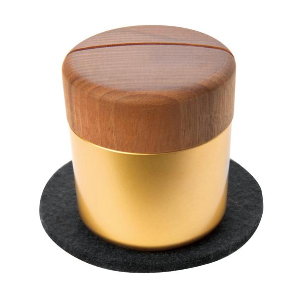 ミニ骨壷 分骨用 手元供養 ピクチュアリシリンダ ゴールド 金 真鍮製 Pictuary cylinder 手元供養専門店 未来創想