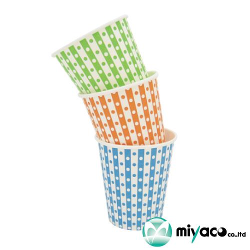紙コップ7オンス 205ml(3色水玉アソート)2000個