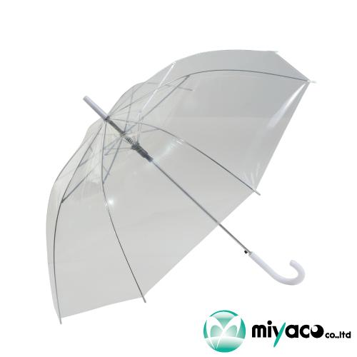 ビニール傘_業務用ケース販売 ビニール傘 透明 55cmジャンプ式 60本_業務用 激安挑戦中 卓越