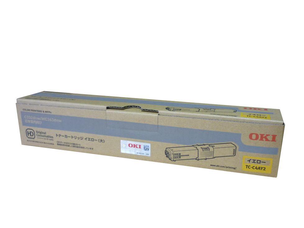 【純正】OKI(OKIデータ)TC-C4AY2 イエロー大容量 / 4949443214345【返品不可商品】