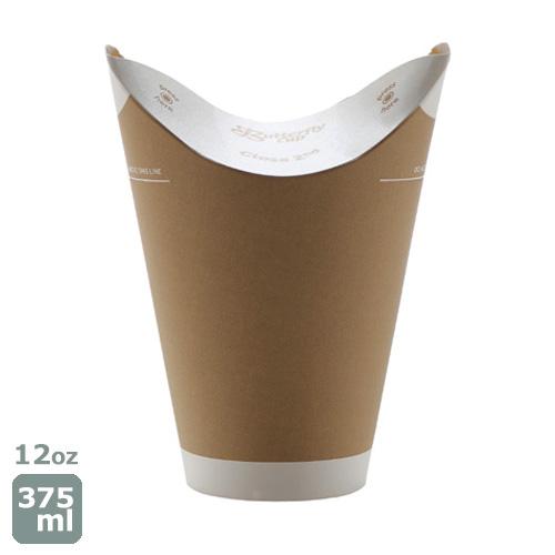 バタフライカップ 紙コップ12オンス(クラフト)800個 脱プラ