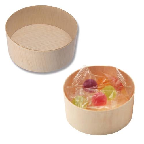 HEIKO 使い捨て 木製 食品容器 ふぁるかたぼっくす 丸85×H35本体 1000個