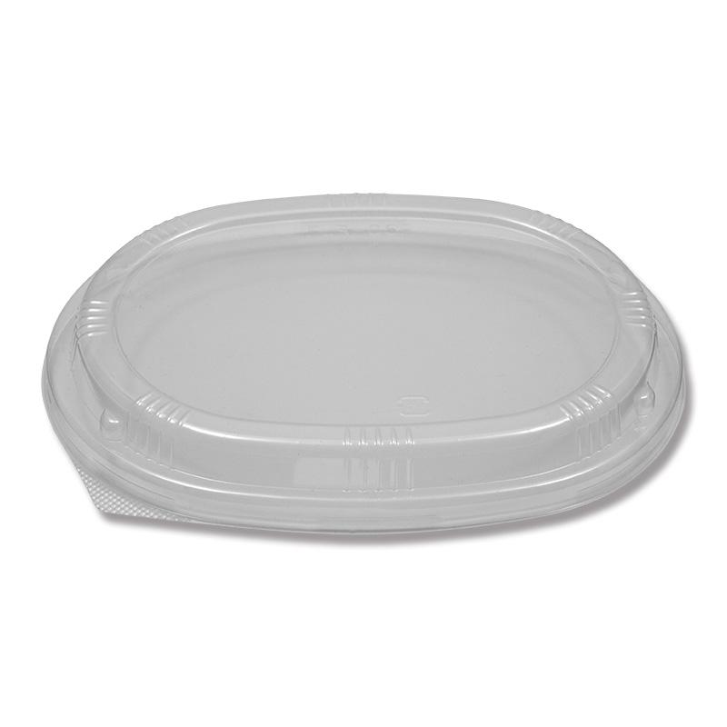 HEIKO 使い捨て 木製 食品容器 ふぁるかたぼっくす 楕円120×170専用蓋 透明 600枚