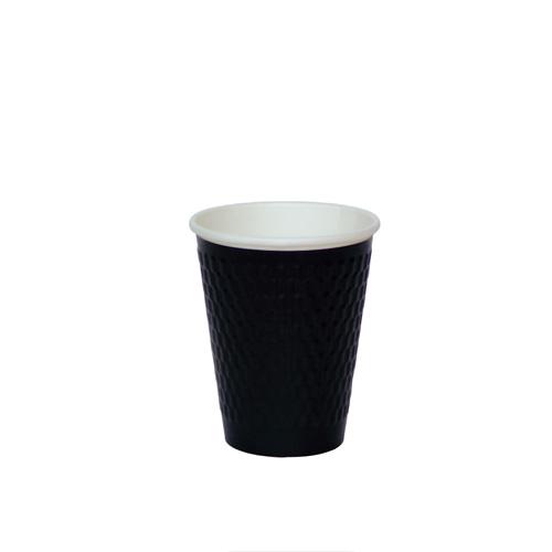 二重断熱紙コップ KMW-240 ブラック 1000個/おしゃれなデザイン。
