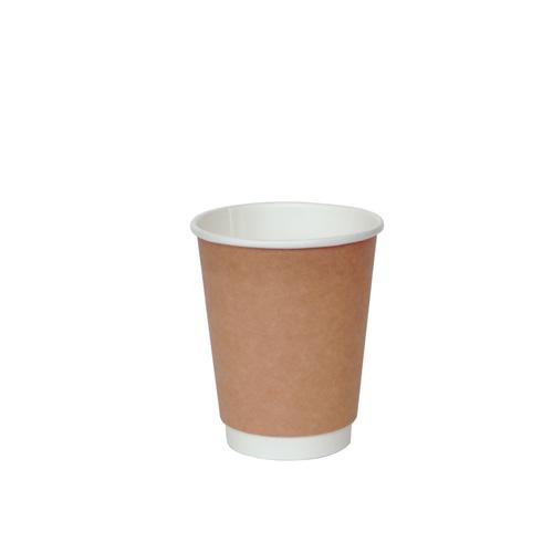 (KMコップ)二重断熱紙コップ KMJ-240 ナチュラル 500個