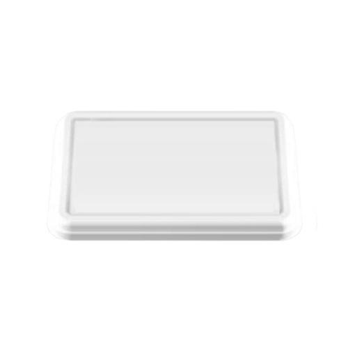 紙製弁当容器 P-2専用蓋 白 600枚【返品不可】アヅミ産業