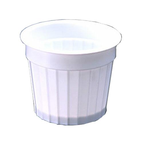 デザートカップ PP71パイ-105ギザギザM(白) 1500個 _デザート容器_プラスチック容器_