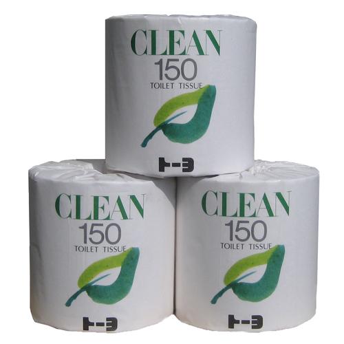 通常のトイレットペーパーホルダーで使用できます トイレットペーパー150m×45巻入 シングル 売り出し トーヨ CLEAN_業務用_4904860521308 クリーン 18%OFF