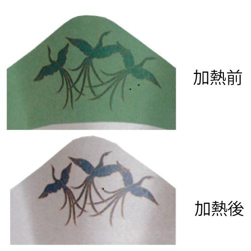 【送料無料】絵鍋(グリーン)鳳凰 1500枚_業務用_紙鍋