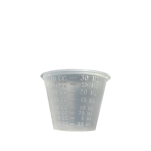 試飲用カップ いつでも送料無料 プラコップ 30ml プラカップ 完全送料無料 1ozカップ 目盛入 5000個 半透明 PP
