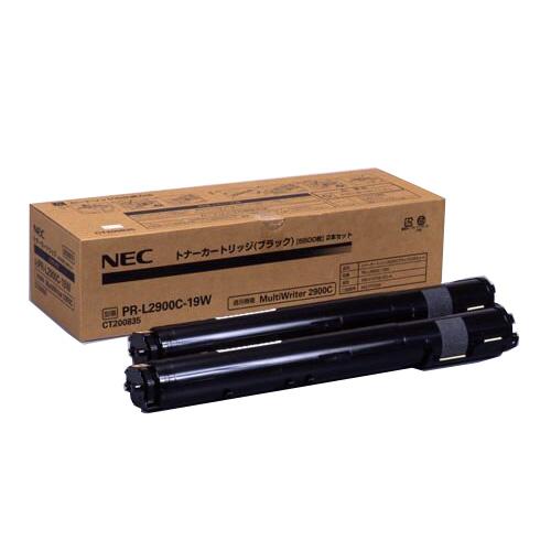 【純正】NEC PR-L2900C-19W 大容量ブラック 2本 / 4547714402585【返品不可商品】