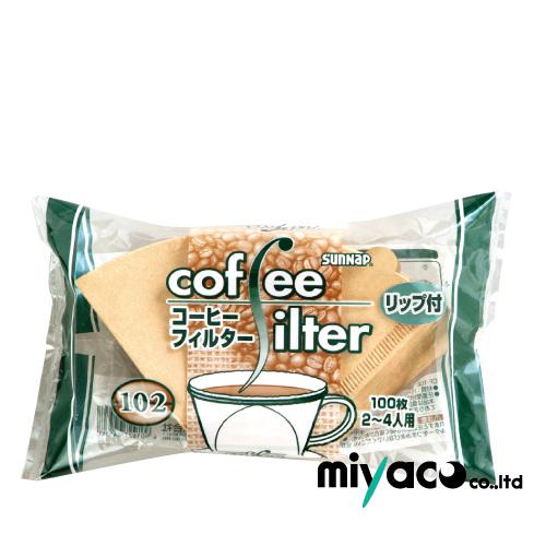 【送料無料】コーヒーフィルター102(2~4人用)リップ付 8000枚