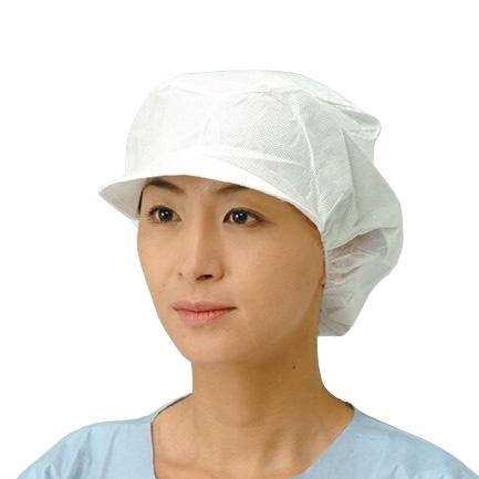帯電帽ツバ付 ホワイト 200枚