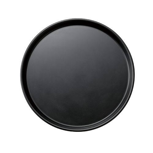 【送料無料】ミニトレー丸 ブラック 30枚