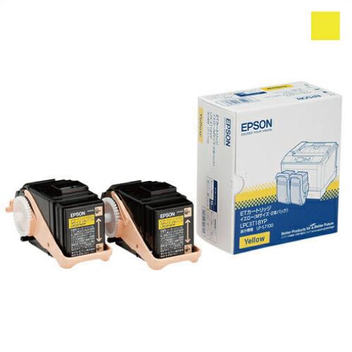 純正品 EPSON LPC3T18YP トナー イエローMサイズ 2本パック / 4988617049697【返品不可商品】