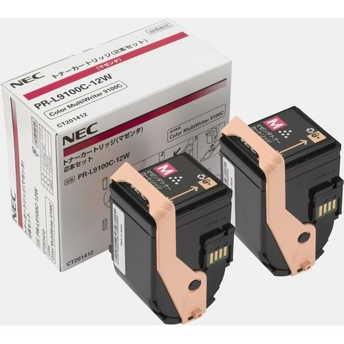 純正品 NEC PR-L9100C-12W マゼンタ トナー2本 / 4548835141469【返品不可商品】